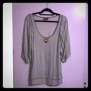 Juicy Couture pleated sleeve top